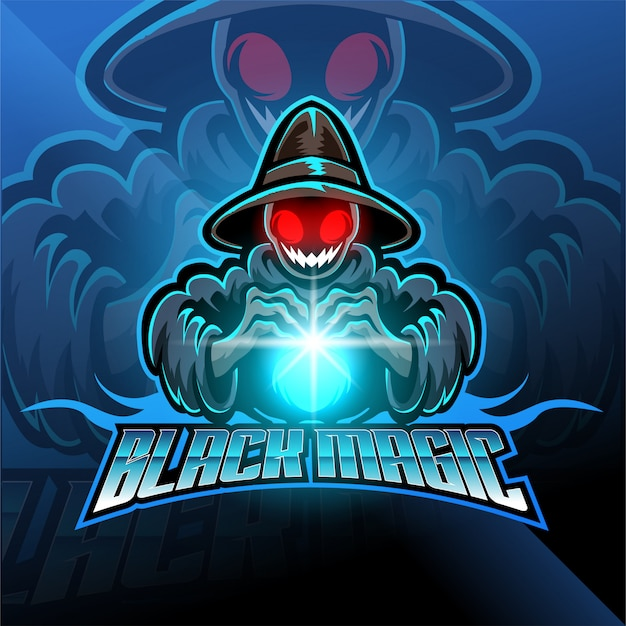 Logo czarnej magii e-sportowej maskotki