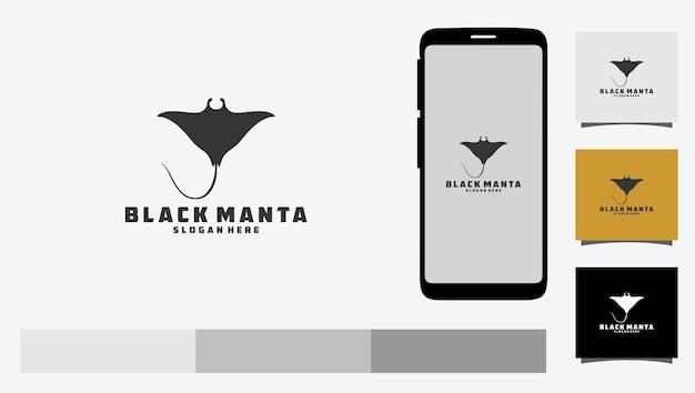 Logo czarnej manty