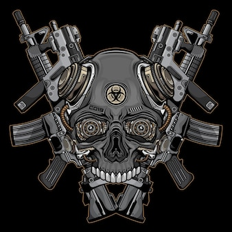 Logo czaszki i broni palnej