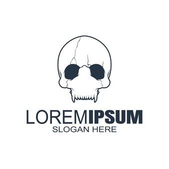 Logo czaszki, ikona lub czaszka, szkielet.