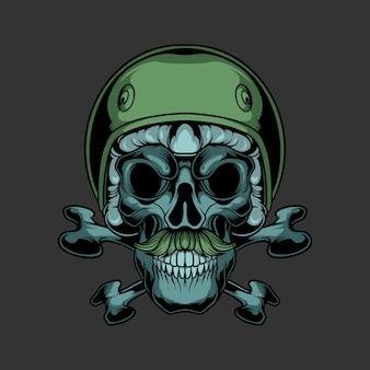 Logo czaszki motocyklisty