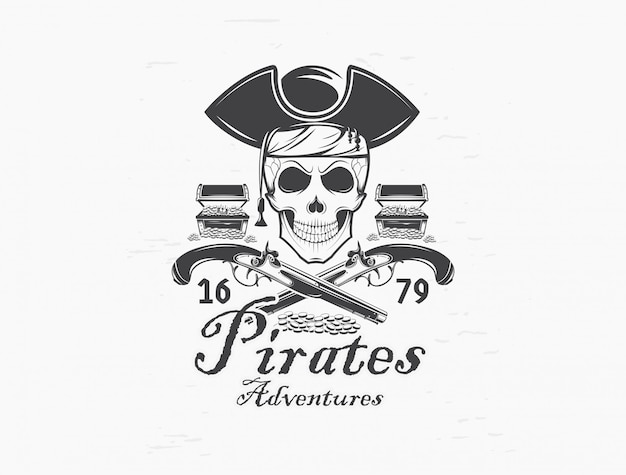 Logo czaszki pirata.