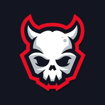 Logo czaszki z rogiem
