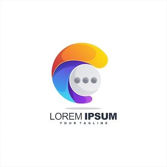 Logo czatu gradientowego