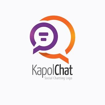 Logo czatu społecznościowego na czacie