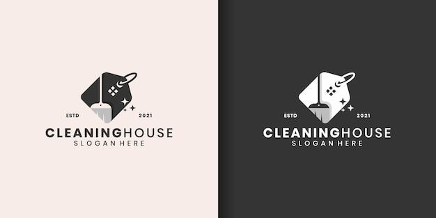 Logo czystego domu dla agencji nieruchomości