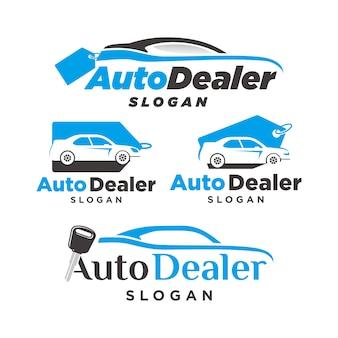 Logo dealera samochodowego, logo dealera sprzedaży i kupna samochodu