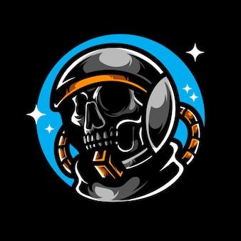Logo Death Astronaut E Sport Premium Wektorów