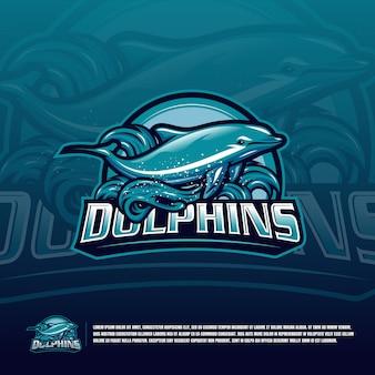 Logo delfina zielone