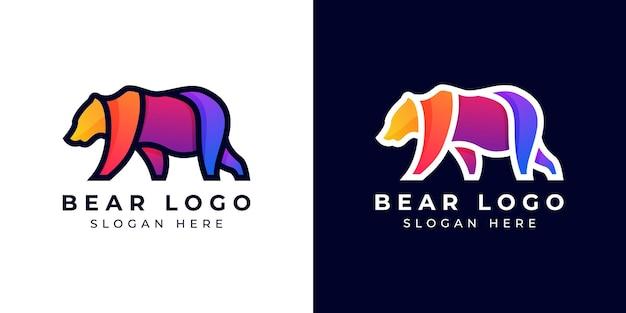 Logo design modern bear kolorowy lub gradientowy