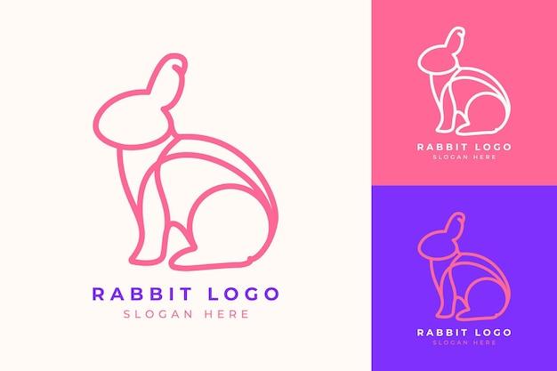 Logo design nowoczesna minimalistyczna technologia królik line art