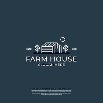 Logo dla branży rolniczej z elementami domu