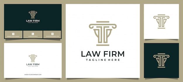 Logo dla kancelarii prawnej, kancelarii prawnej, usług prawniczych, logo luksusowego herbu w stylu vintage, logo i cad biznesowego