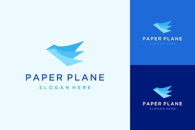 Logo dla lotów lub ptaków lub samolotów