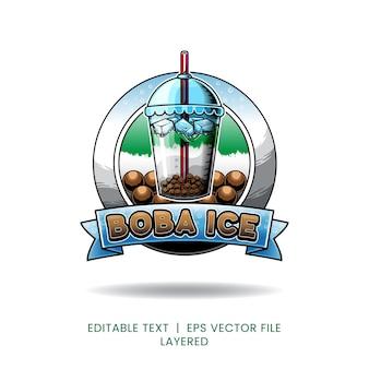 Logo dla produktów lodowych boba