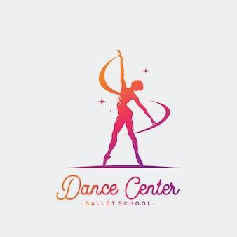 Logo dla studia baletu lub tańca