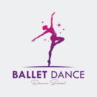 Logo Dla Studia Baletu Lub Tańca Premium Wektorów