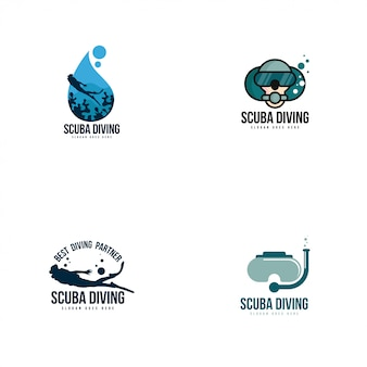 Logo do nurkowania z akwalungiem