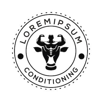 Logo do treningu mięśni wektor