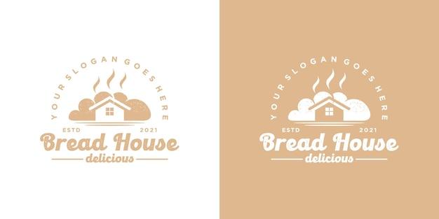 Logo domu chleba, logo piekarni, logo ciasta, odniesienie dla biznesu
