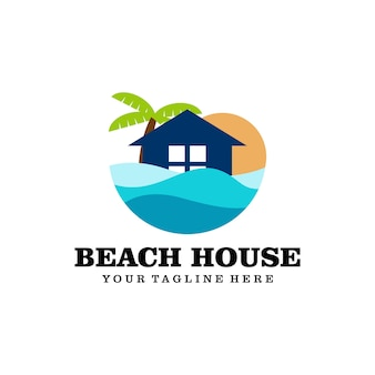 Logo domu na plaży