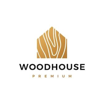 Logo domu z drewna