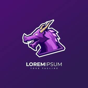 Logo dragon maskotka