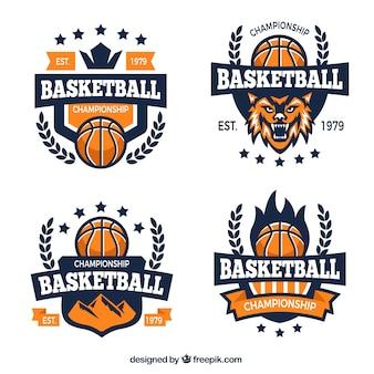 Logo drużyna koszykówki