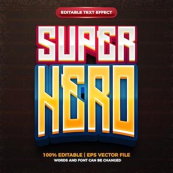 Logo drużyny e-sportowej superbohatera 3d edytowalny efekt tekstowy