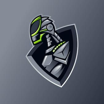 Logo drużyny esportowej maskotki robota