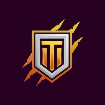 Logo drużyny t znaczek gry