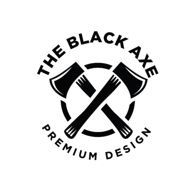 Logo drwal z siekierą