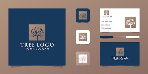 Logo drzewa i wizytówki