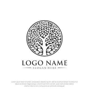 Logo drzewa inspiracja płaska