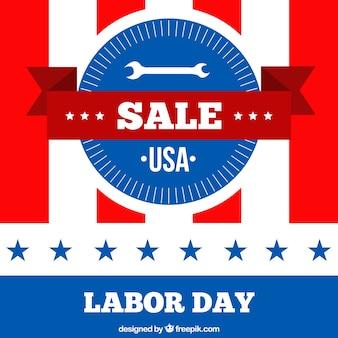 Logo dzień roboczych odznaki w usa sprzedaży