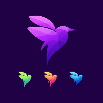 Logo dzikich zwierząt ptak natura