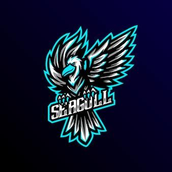 Logo e-gier maskotka sagull
