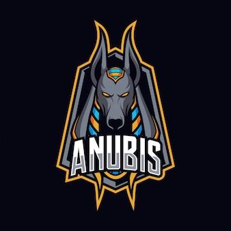 Logo e-sport maskotka anubis