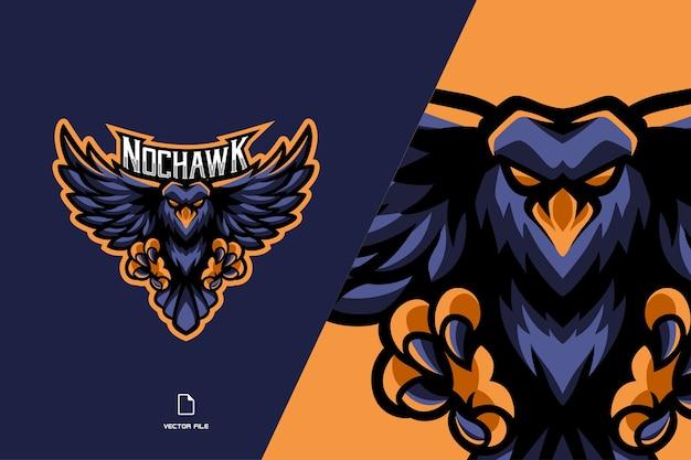 Logo e-sport maskotka ptak orzeł dla ilustracji zespołu gry