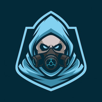 Logo e-sportowa maskotka toksyczna maskotka