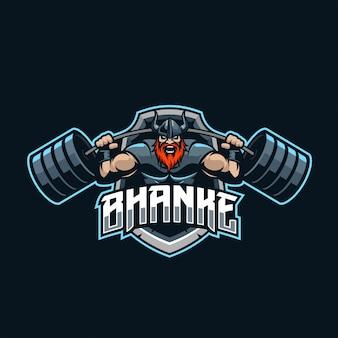 Logo e-sportowca viking strongman