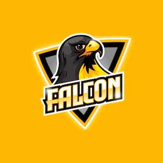 Logo e-sportowe black falcon