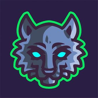 Logo e-sportowe głowy wilków