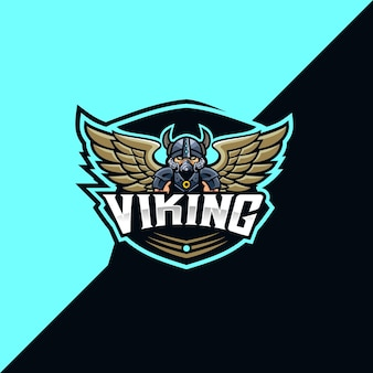Logo e-sportowe i sportowe wikingów