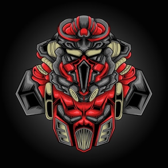 Logo e-sportowe ilustracji robota bojowego