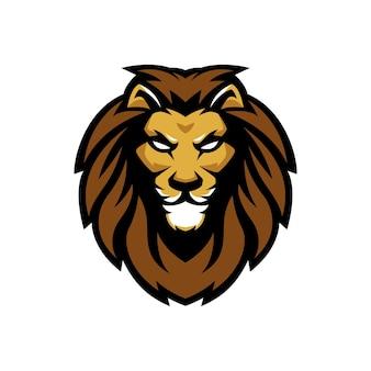 Logo e-sportowe lion guard