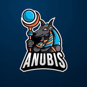 Logo e-sportowe maskotka anubis