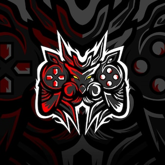 Logo e-sportowe maskotka gaming monsters