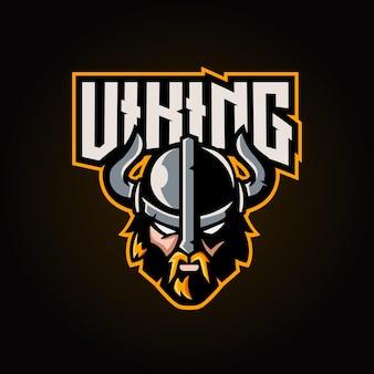 Logo e-sportowe maskotki wikingów