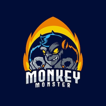 Logo e-sportowe monkey monster